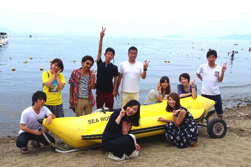 歓声と絶叫が入り乱れる!琵琶湖でBBQとビッグマーブル!